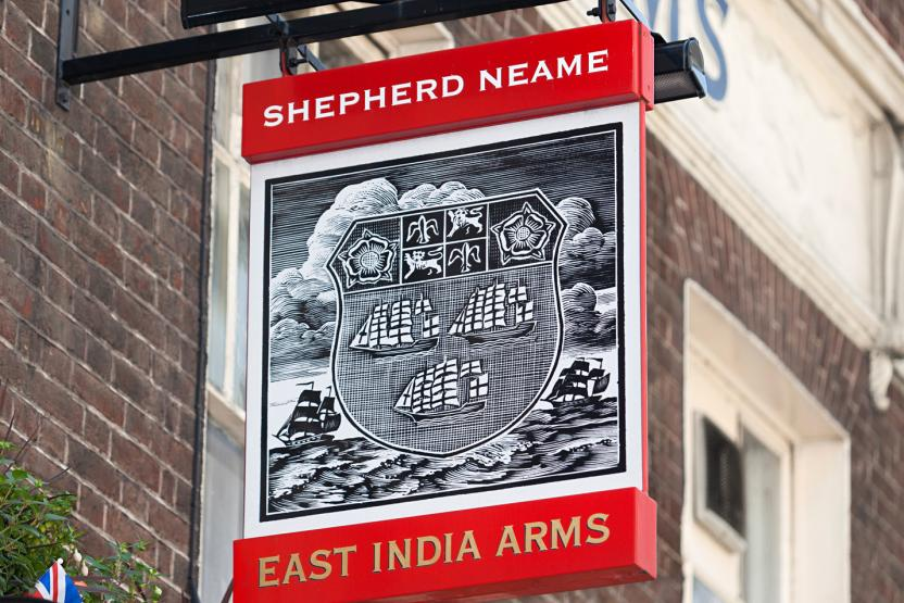 East India Arms London Swingsign